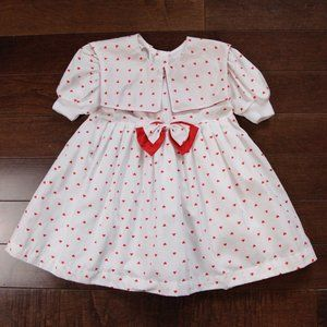 Vintage Valentine's Day Heart Dress with Bow